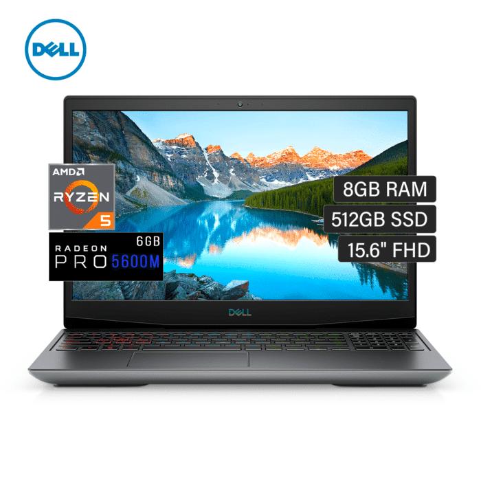 "LAPTOP DELL GAMING G5 5505 RYZEN 5 4600H RAM 8GB DISCO 512GB VIDEO 6GB 15.6"" FHD WINDOWS 10 - DELL GAMING G5 5505 - R&M Portátiles"