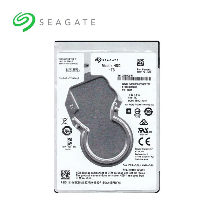 DISCO DURO INTERNO PARA LAPTOP SEAGATE 1TB 5400 RPM - DISCO DURO SEAGATE 1TB - R&M Portátiles