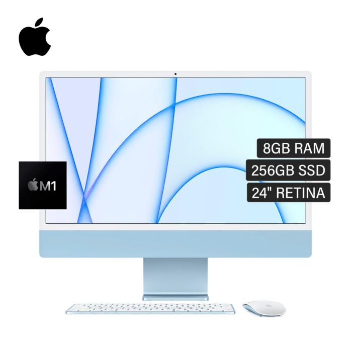 "IMAC A2438 CHIP M1 RAM 8GB DISCO 256GB SSD 24"" RETINA AÑO 2021 AZUL US - IMAC A2438 AZUL - R&M Portátiles"