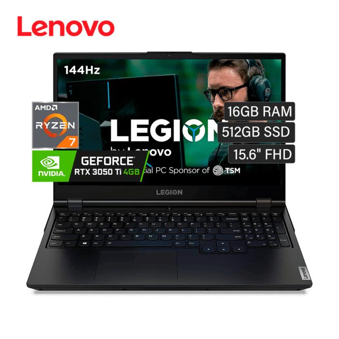 "LAPTOP LENOVO LEGION 5 15IMH05H RYZEN 7 5800H RAM 16GB DISCO 512GB SSD VIDEO 4GB 15.6"" FHD WINDOWS 10 - LEGION 5 15IMH05H - R&M Portátiles"