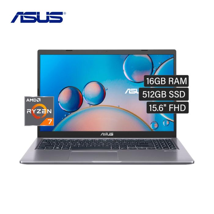 "LAPTOP ASUS M515UA-BQ398T RYZEN 7 5700U RAM 16GB DISCO 512GB SSD 15.6"" FHD WINDOWS 10 - M515UA BQ398T - R&M Portátiles"