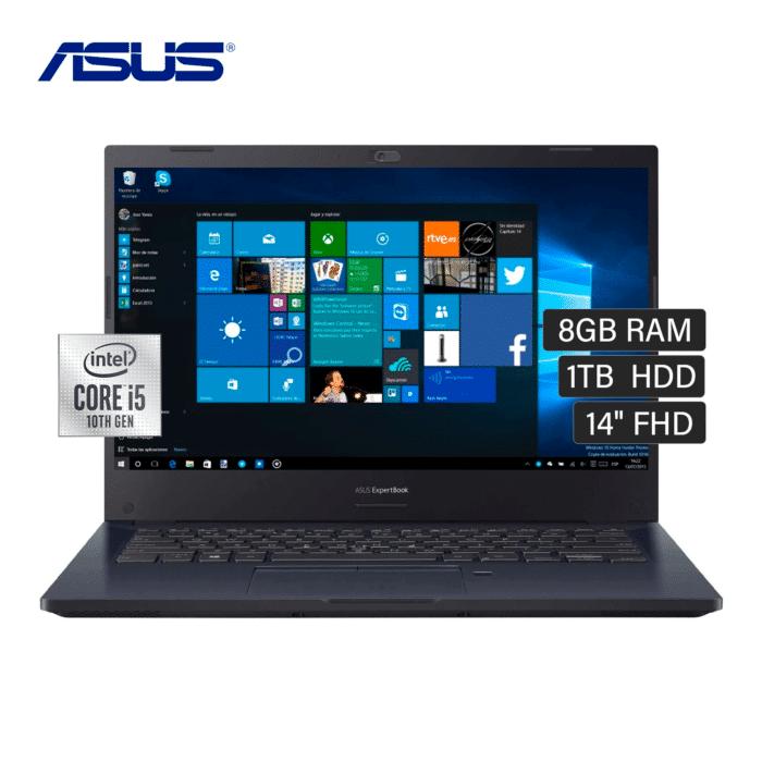 "LAPTOP ASUS P2451FA-EK1441RA INTEL CORE I5 10210U RAM 8GB DISCO 1TB HDD 14"" WINDOWS 10 - ASUS P2451FA CORE I5 1TB 14 - R&M Portátiles"
