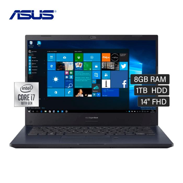 "LAPTOP ASUS P245IFA-EK1442RA INTEL CORE I7 10510U RAM 8GB DISCO 1TB HDD 14"" WINDOWS 10 - ASUS P2451FA CORE I7 1TB 14 - R&M Portátiles"