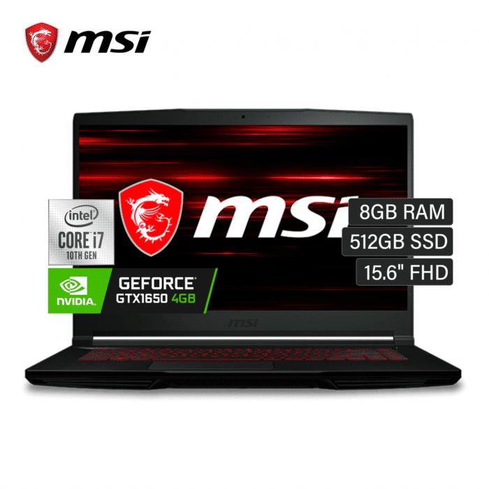 "LAPTOP MSI GF63 THIN INTEL CORE I7 10750H RAM 8GB DISCO 512 SSD VIDEO 4GB 15.6"" FHD WINDOWS 10 - MSI GF63 THIN - R&M Portátiles"